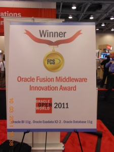 Oracle Fusion Middleware Innovation Award